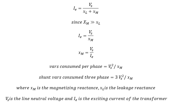 How to calculate reactive power of a transformer ...