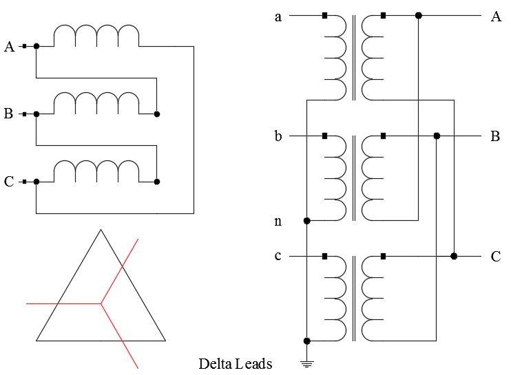 Transformer Connections: Phase Shift and Polarity – Voltage Disturbance   Wye Transformer Wiring Diagram      Voltage Disturbance
